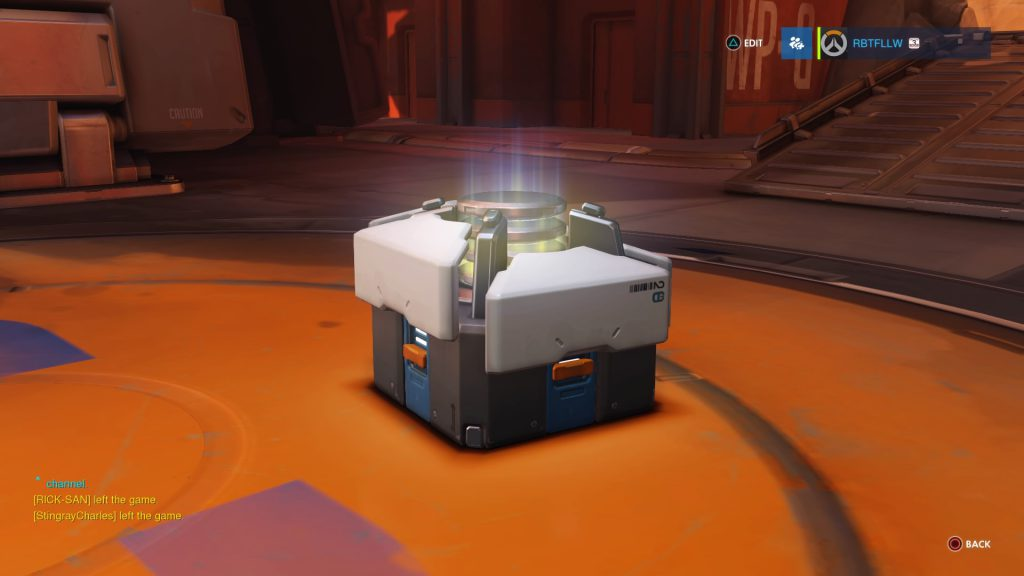 End of game loot box.