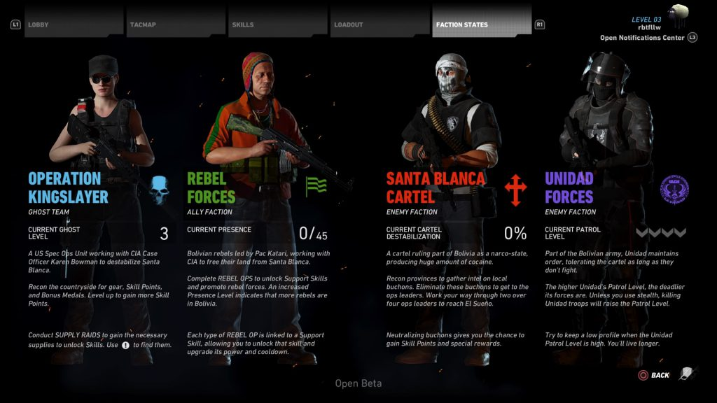 A first look at the factions you can align yourself with.